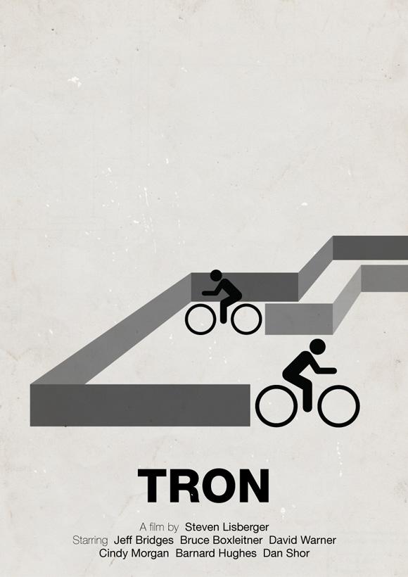 Tron pictogram poster inspiration movie