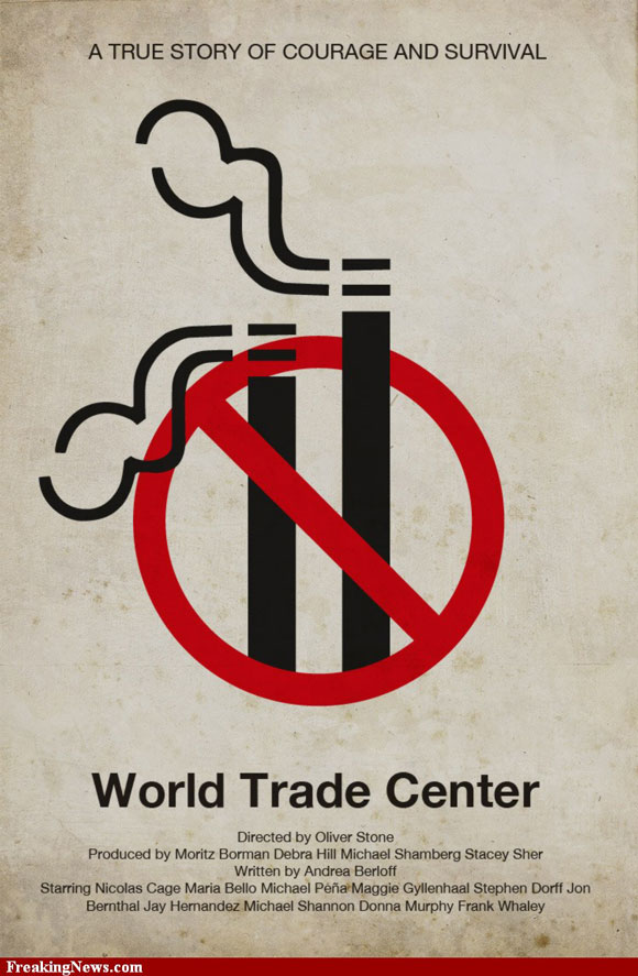 World Trade Center pictogram poster inspiration movie