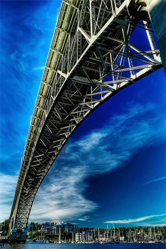 Aurora Bridge In Fremont example of Photography taken from an Unusual Angle