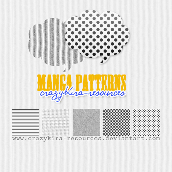 Manga free designer photoshop patterns