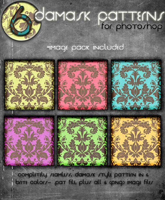 Damask Brites free designer photoshop patterns