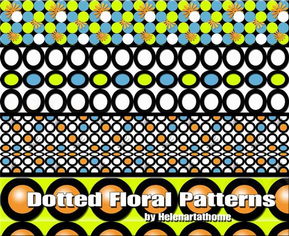 Dotted Floral free designer photoshop patterns