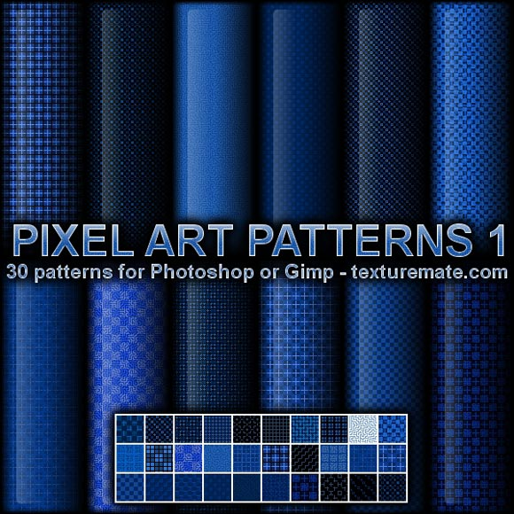 Pixel Art freebies adobe photoshop patterns