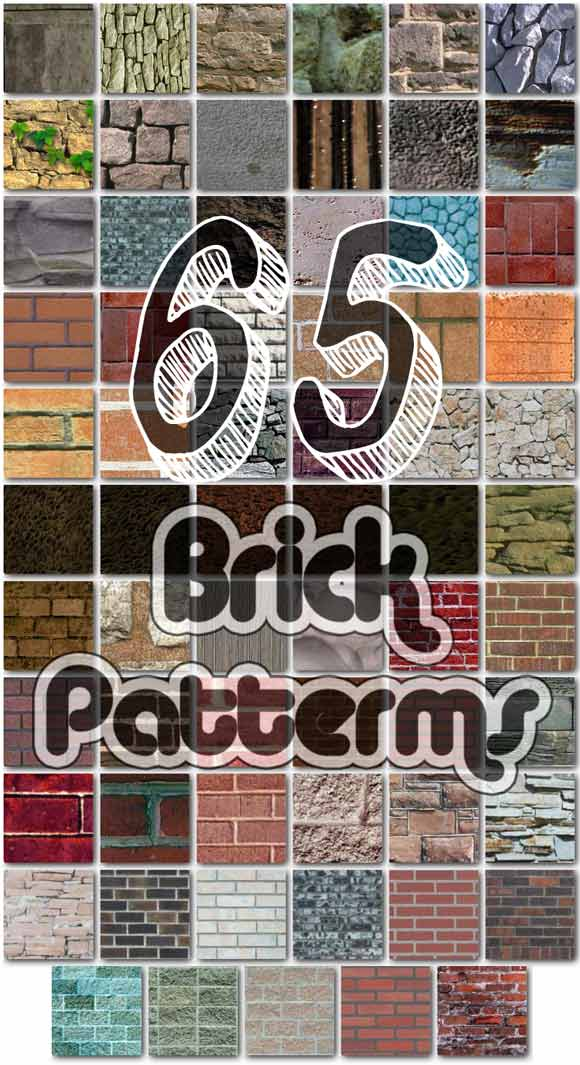 Seamless Brick freebies adobe photoshop patterns