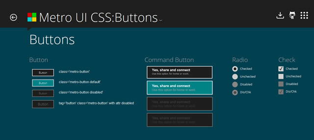 Metro UI CSS is a set of styles to create a site with an interface similar to the Windows 8 Metro UI