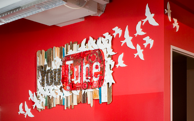 YouTube Commission Offices Wall Artwork lgoo