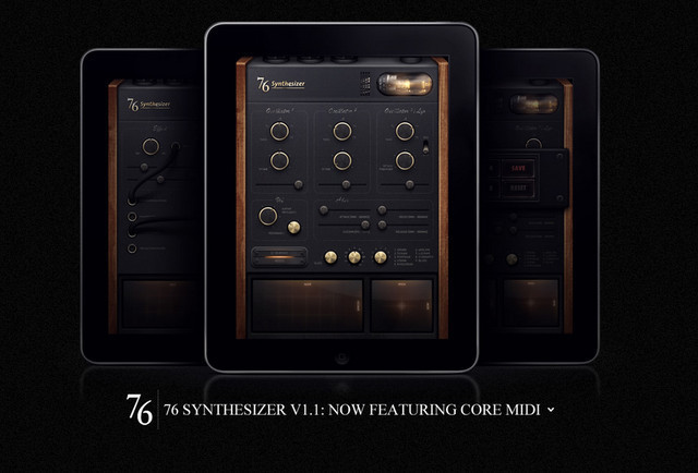 creative site with a blabk grey dark layout 76 Synthesizer