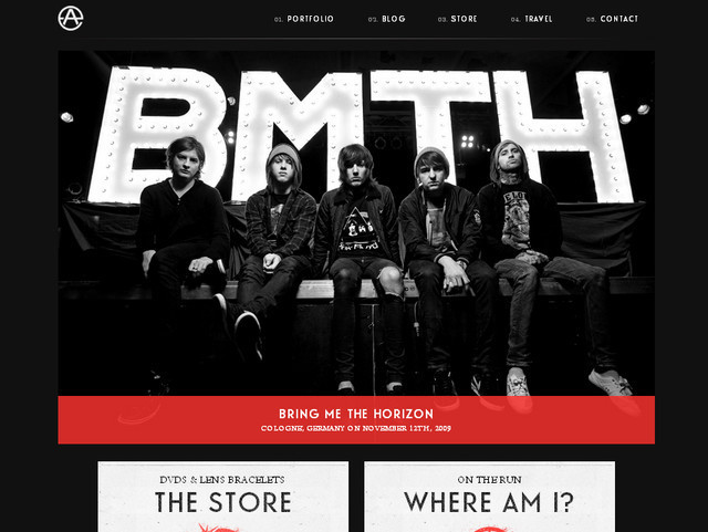 creative site with a blabk grey dark layout Adam Elmakias