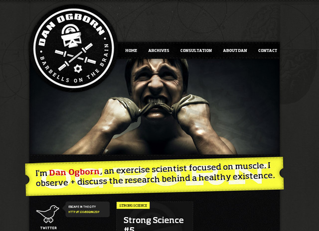 creative site with a blabk grey dark layout Danogborn
