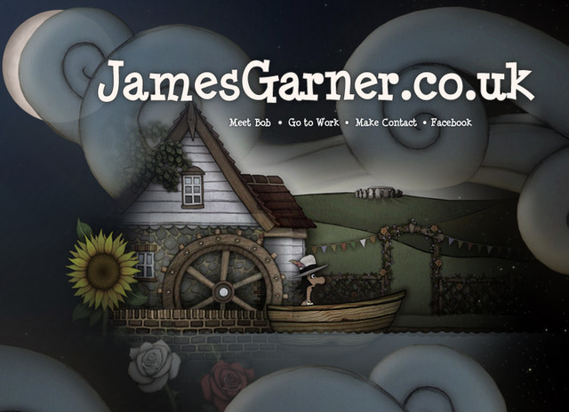 example of a web site with dark color scheme Jamesgarner