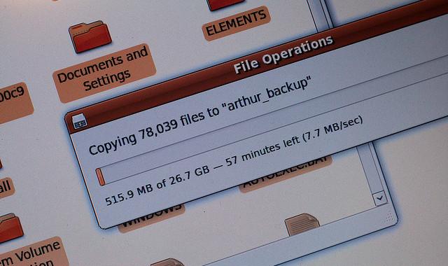 Ubuntu Linux copying data parity
