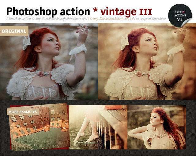 Photoshop vintage action III