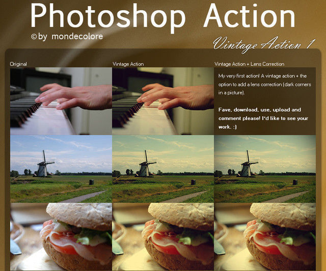 Vintage Photoshop Action I