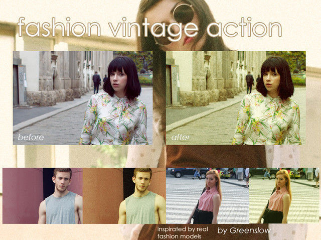 Fashion vintage action