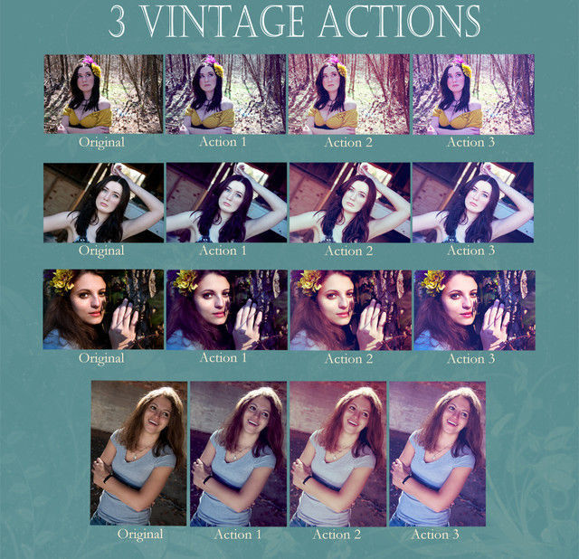 Vintage Action Set Photoshop