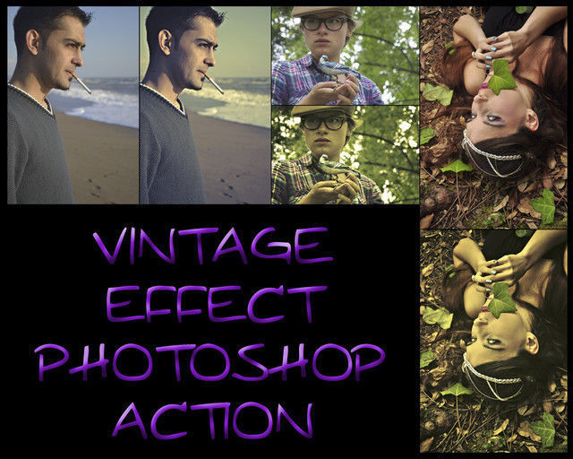 Vintage Effect Photoshop Action