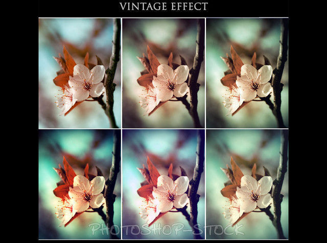 Vintage Effect photoshop Actions