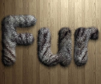 Creating Fur or Hair Text in Photoshop
