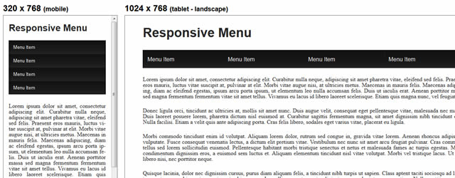 Responsive Drop Down Navigation Menu tutorial