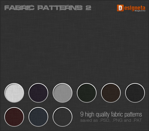HQ Fabric Patterns free for Photoshop PAT
