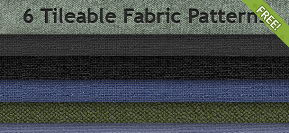 6 Free Tileable Fabric Patterns free for Photoshop PAT