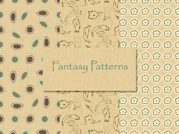 Fantasy Patterns free for Photoshop PAT