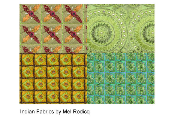 Indian Fabric Patterns free for Photoshop PAT