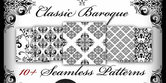 Classic Baroque Photoshop Patterns Seamless