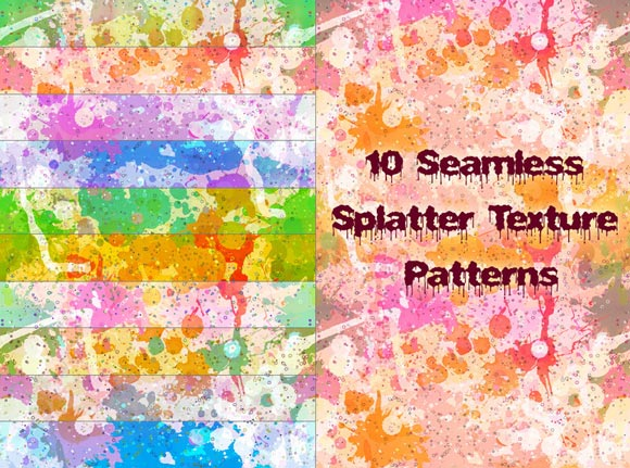 Seamless Splatter Patterns Photoshop Seamless