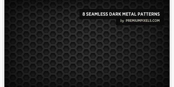 Dark Metal Grid Patterns Photoshop Seamless