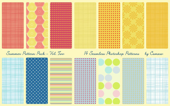 Summer Pattern Pack Photoshop Patterns Seamless