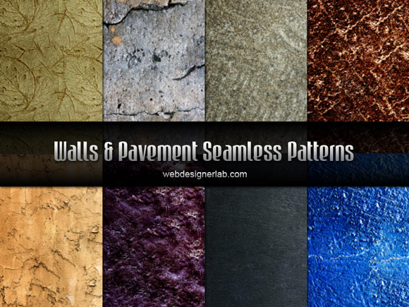 Walls and Pavement Photoshop Patterns Seamless