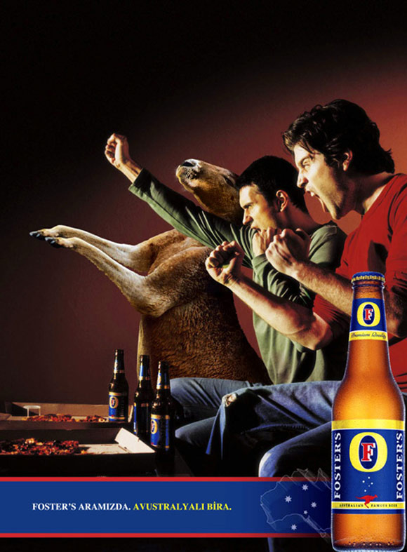 Fosters Advertising humourous ads beer imaginative funny