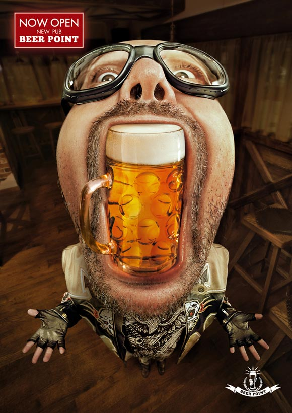 Beer Point Pub-Paulaner funny beer advertisements creative