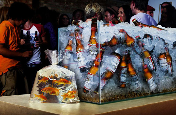 Budweiser Gold Fish humourous ads beer imaginative funny