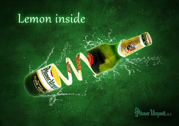 Lemon Side funny beer advertisements creative