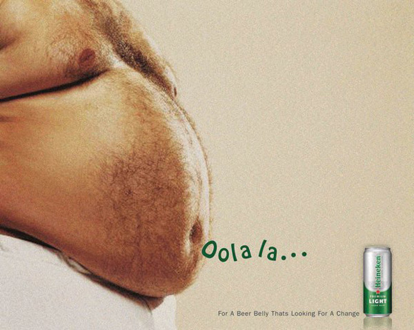 Beer Belly Ad-Oolala humourous ads beer imaginative funny