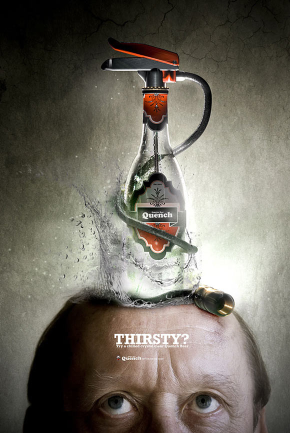 Quench Beer funny beer advertisements creative