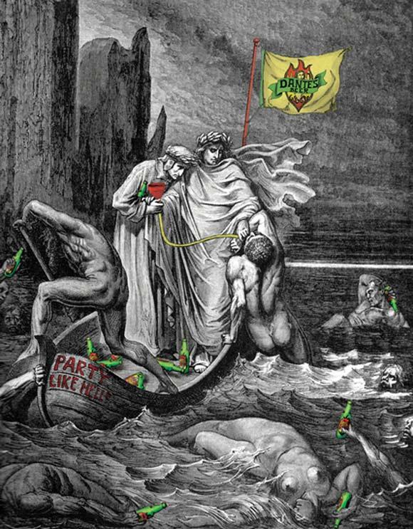 Dante's Beer humourous ads beer imaginative funny