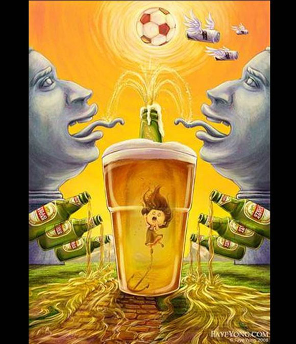 Beer Funny landscape funny beer advertisements creative