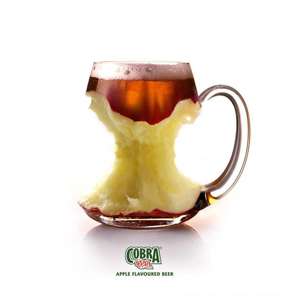 Apple Flavored Beer humourous ads beer imaginative funny