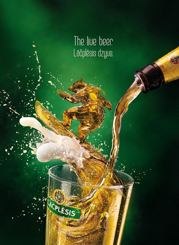 Lacplesis Dzivs beer funny beer advertisements creative