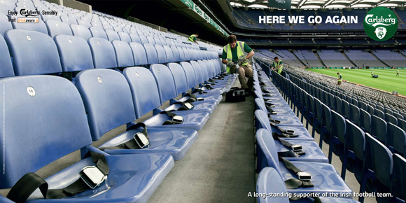 Carlsberg Stadium funny beer advertisements creative