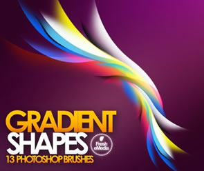 Abstract Gradient Shape Brushes Photoshop Brush