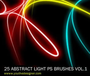 Abstract Light Photoshop Brush