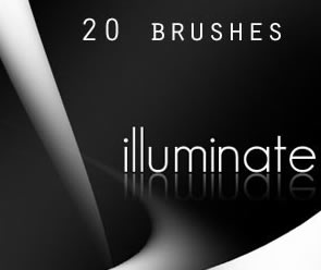 Abstract Illuminate Photoshop Brush