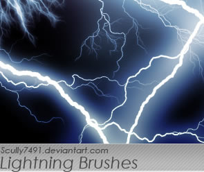 Abstract Lightning Photoshop Brush