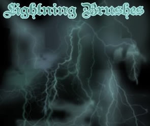 Abstract Photoshop Lightning Brushes
