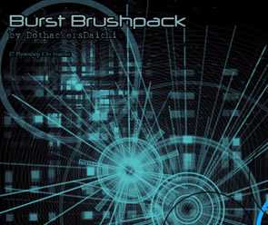 Abstract Photoshop Burst Brushes