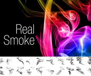 Abstract Real Smoke Photoshop Brushes